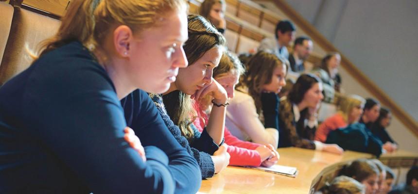 Diákok a Pázmányon