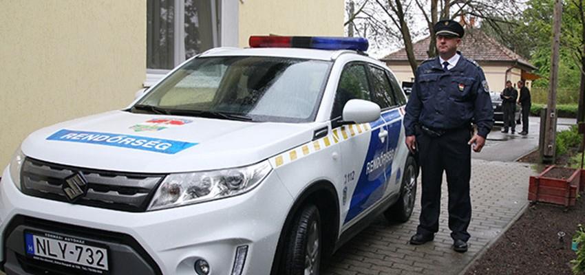 Rendőrautó Kocséron